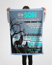 "To My Son Small Fleece Blanket - 30"" x 40"" aos-coral-fleece-blanket-30x40-lifestyle-front-14"