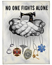 """No One Fights Alone  Large Fleece Blanket - 60"""" x 80"""" front"""