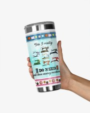 Sewing I Drive Fast And Barefoot 20oz Tumbler aos-20oz-tumbler-lifestyle-front-21