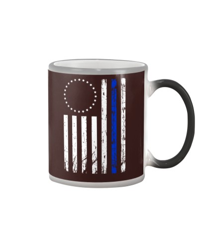 THIN BLUE LINE BETSY ROSS FLAG