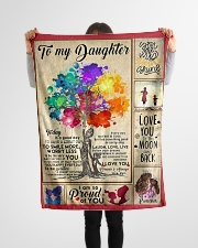 "To my  daughter Small Fleece Blanket - 30"" x 40"" aos-coral-fleece-blanket-30x40-lifestyle-front-14"