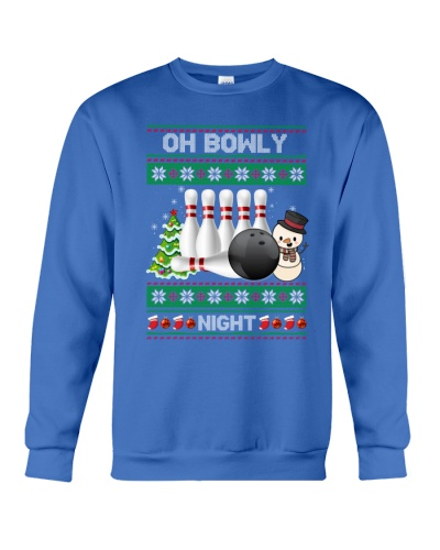 BOWLING Oh Bowly Night Ugly Christmas