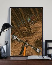 MOUNTAIN BIKING Illustration Poster 3 24x36 Poster lifestyle-poster-2