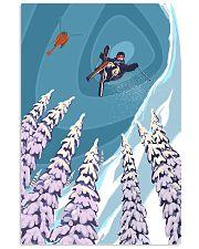 SKIING Poster Heli Retro Ski Jump 24x36 Poster front