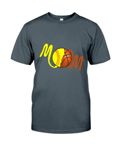 SOFTBALL Mom Basketball