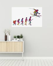 SKIING Poster Evolution Watercolor 36x24 Poster poster-landscape-36x24-lifestyle-01