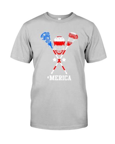 LACROSSE   American Flag Lacrosse