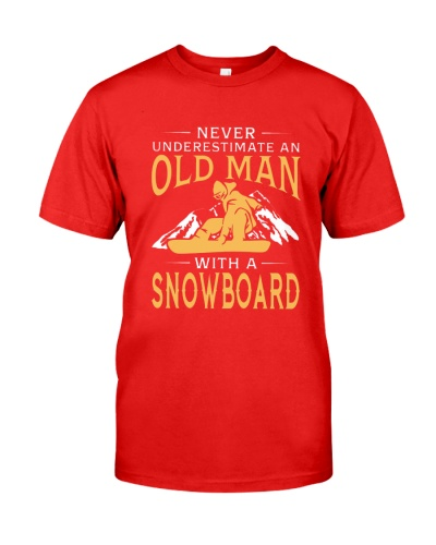 SNOWBOARD Never Underestimate An Old Man
