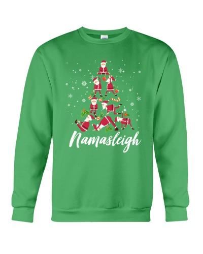 YOGA Namasleigh Meditating Santa