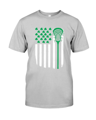 LACROSSE   Lacrosse Flag Irish Shamrock