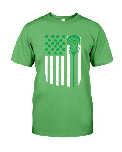 LACROSSE   Lacrosse Flag Irish Shamrock