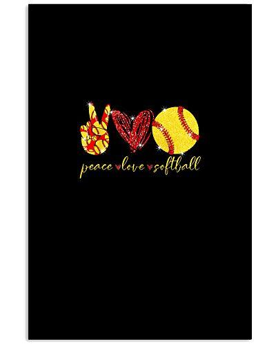 SOFTBALL Funny Peace Love