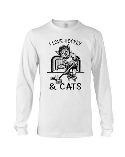 HOCKEY I Love Hockey And Cats