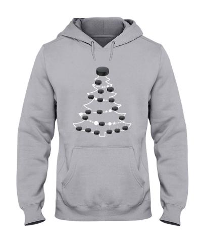 HOCKEY  Ice Hockey Puck Christmas Tree