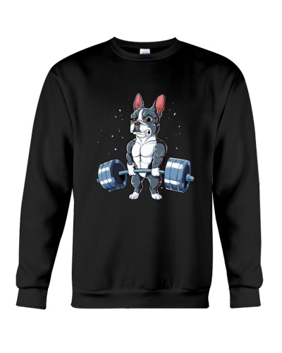 WEIGHT LIFTING Boston Terrier