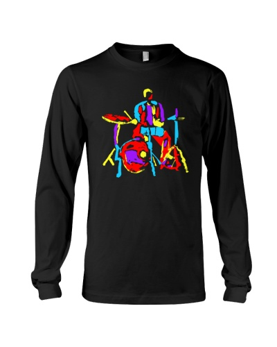 DRUM Colorful Abstract Drummer Modern Style