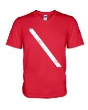 SCUBA DIVING Diver Down Flag V-Neck T-Shirt thumbnail