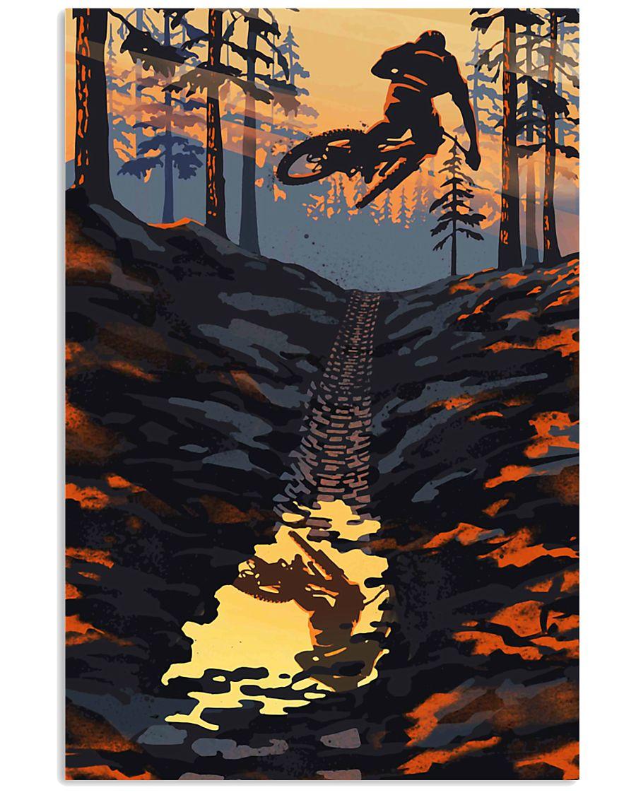 MOUNTAIN BIKING Sunset On The Mountain Bike 24x36 Poster