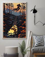 MOUNTAIN BIKING Sunset On The Mountain Bike 24x36 Poster lifestyle-poster-1