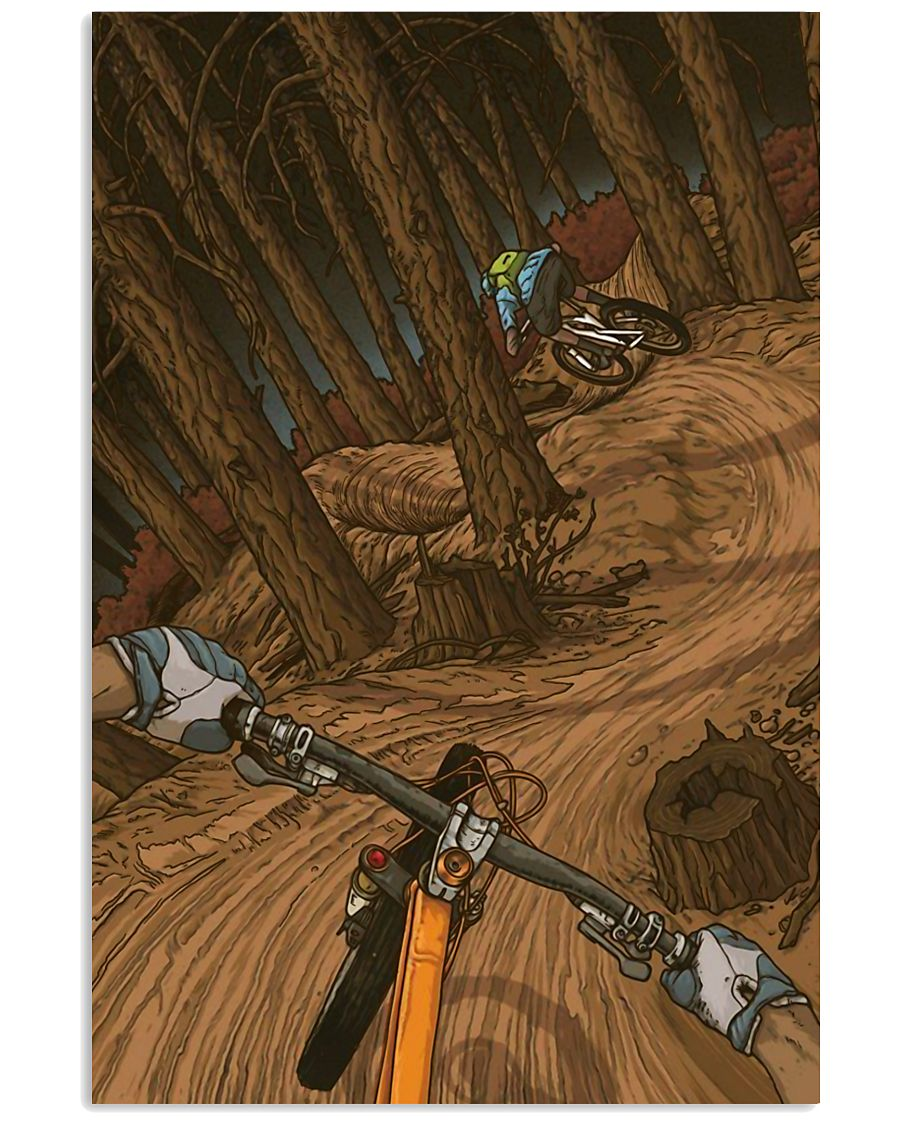 MOUNTAIN BIKING Illustration Poster 2 24x36 Poster