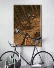 MOUNTAIN BIKING Illustration Poster 2 24x36 Poster lifestyle-poster-7