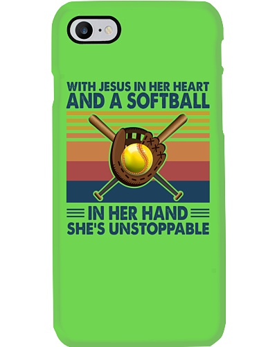 SOFTBALL   With Jesus In Her Heart