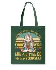 I'm Mostly Peace Love And Light And A Little Go Yo Tote Bag thumbnail