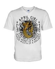April Girl The Soul Of A Mermaid V-Neck T-Shirt thumbnail