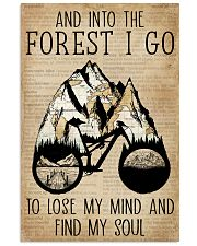 Dictionary Vintage Map And Into The Forest Cycling 11x17 Poster front