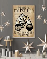 Dictionary Vintage Map And Into The Forest Cycling 11x17 Poster lifestyle-holiday-poster-1