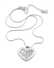 Gift for GrandDaughter Metallic Heart Necklace aos-necklace-heart-metallic-lifestyle-03