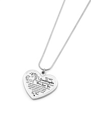 Gift for GrandDaughter Metallic Heart Necklace aos-necklace-heart-metallic-lifestyle-04