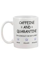Caffeine and Quarantine Mug back