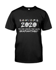 Gift for Seniors - Quarantined 2020 Classic T-Shirt front
