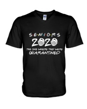 Gift for Seniors - Quarantined 2020 V-Neck T-Shirt thumbnail