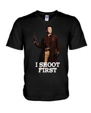 Nathan Fillion V-Neck T-Shirt thumbnail