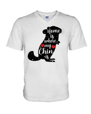 Home is where my chin is V-Neck T-Shirt thumbnail