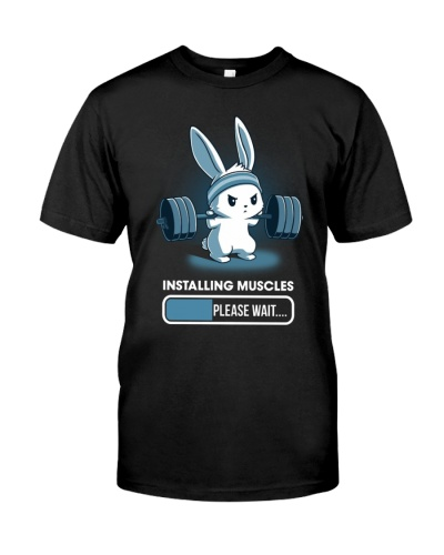 Rabbit shirt insalling muscles please wait