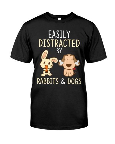 Rabbits And Dogs Funny Cute