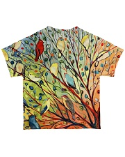 Bird shirt colorful bird on trees All-over T-Shirt back