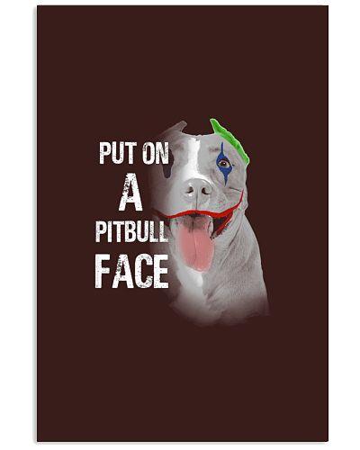 Pitbull put on a happy face