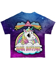 SATAN CUTE UNICORN All-over T-Shirt back