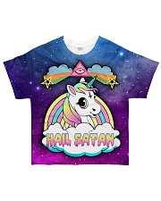 SATAN CUTE UNICORN All-over T-Shirt front