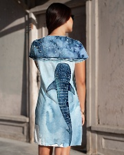 Whale dress ocean lovers All-over Dress aos-dress-back-lifestyle-1