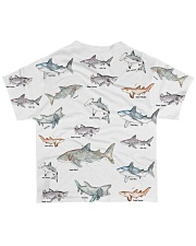 Shark shirt type of shark All-over T-Shirt back
