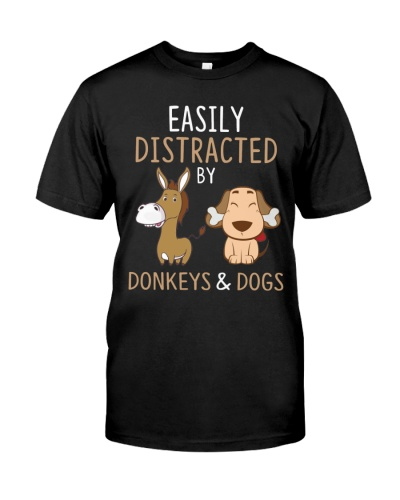 Donkeys And Dogs Funny Cute