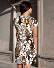 Rabbit dress cute cartoon bunnies All-over Dress aos-dress-back-lifestyle-1