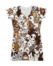 Rabbit dress cute cartoon bunnies All-over Dress front