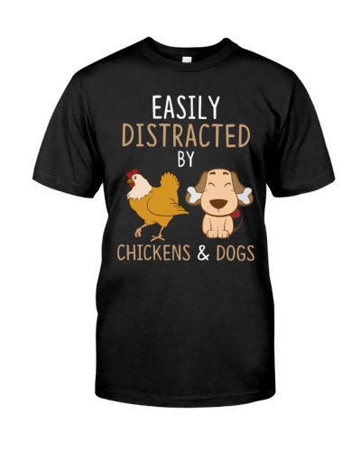 Chickens And Dogs Funny Cute