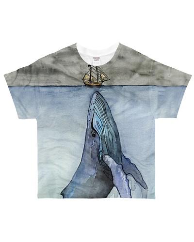Whale shirt under ocean art